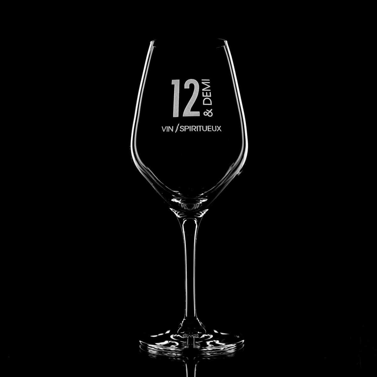 verre a vin gravé bordeaux