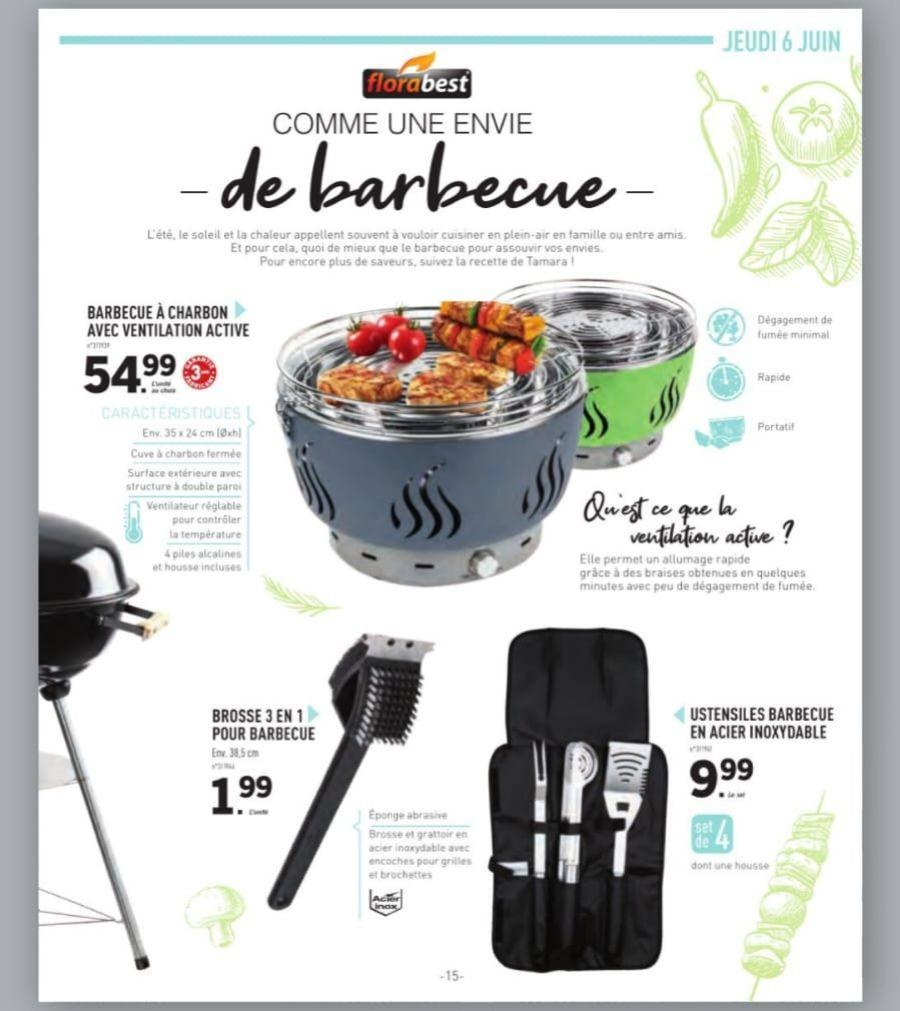 barbecue charbon ventilation active lidl