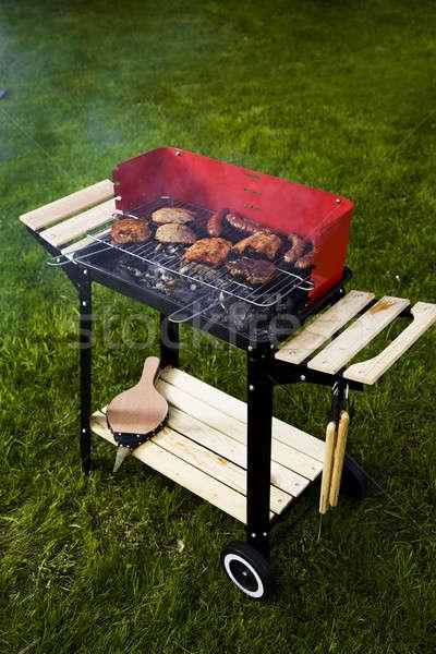 barbecue charbon fresh garden