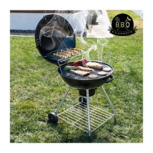 barbecue charbon rond avec couvercle