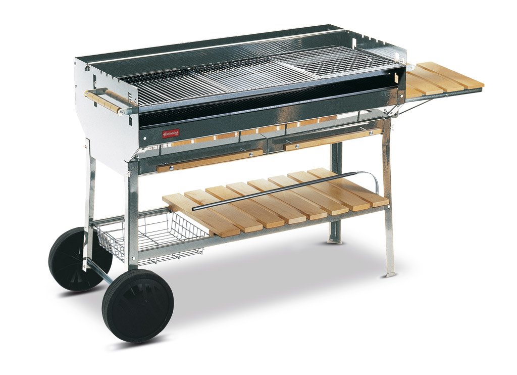 barbecue charbon vertical inox