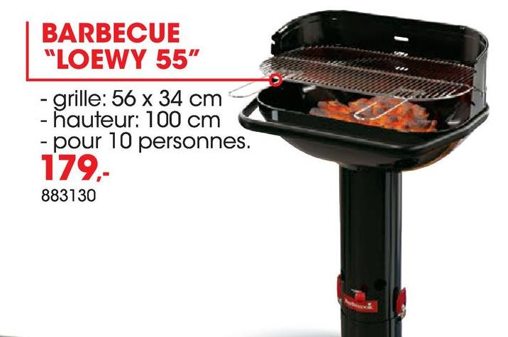 barbecue charbon loewy 55