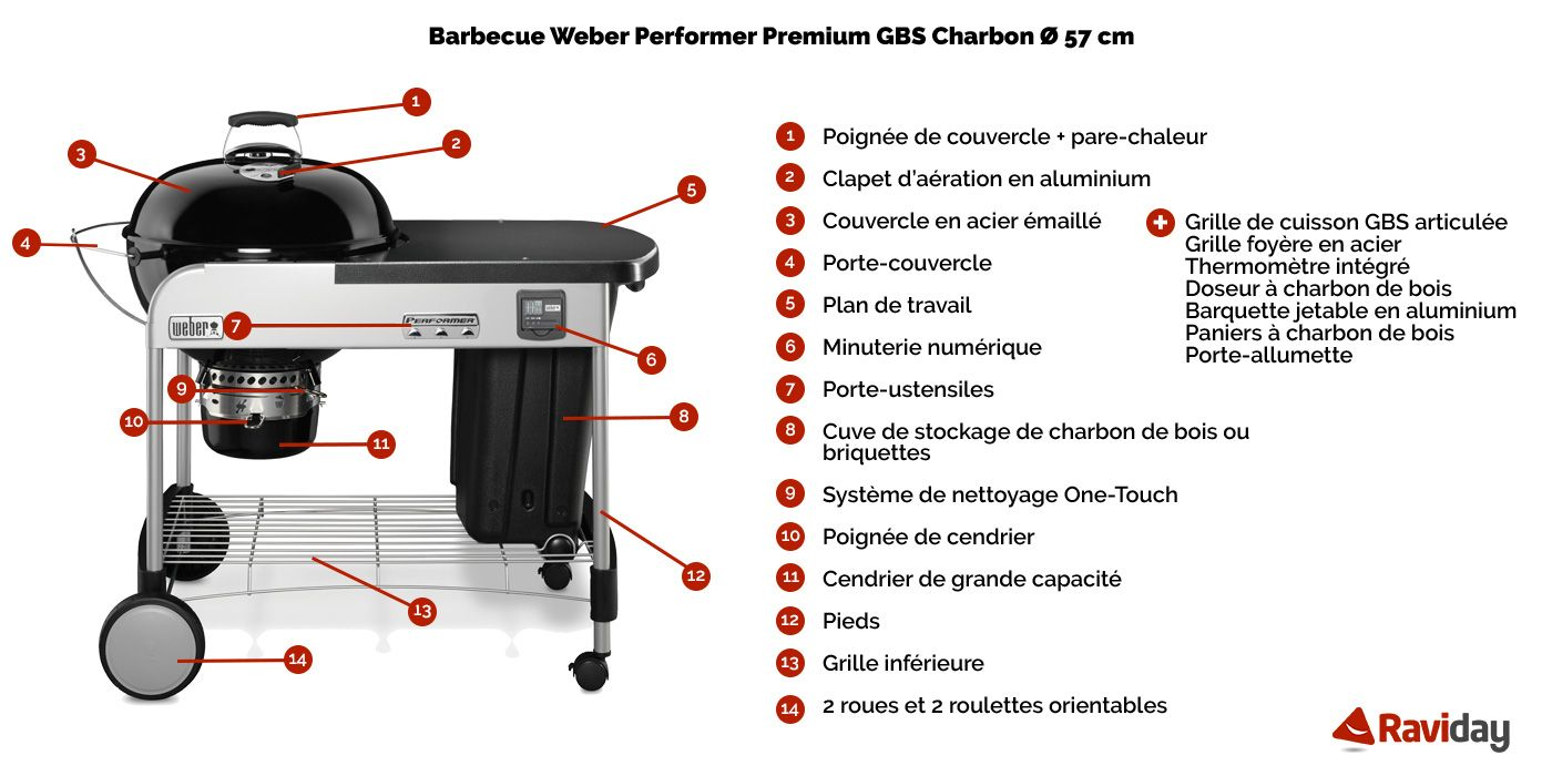barbecue charbon weber performer