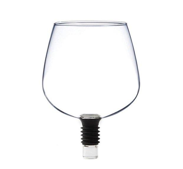 verre à vin bouteille