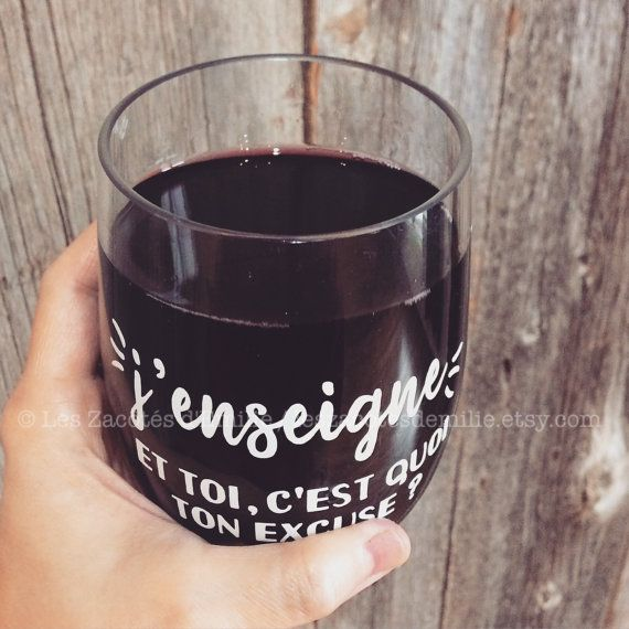 verre à vin j'enseigne