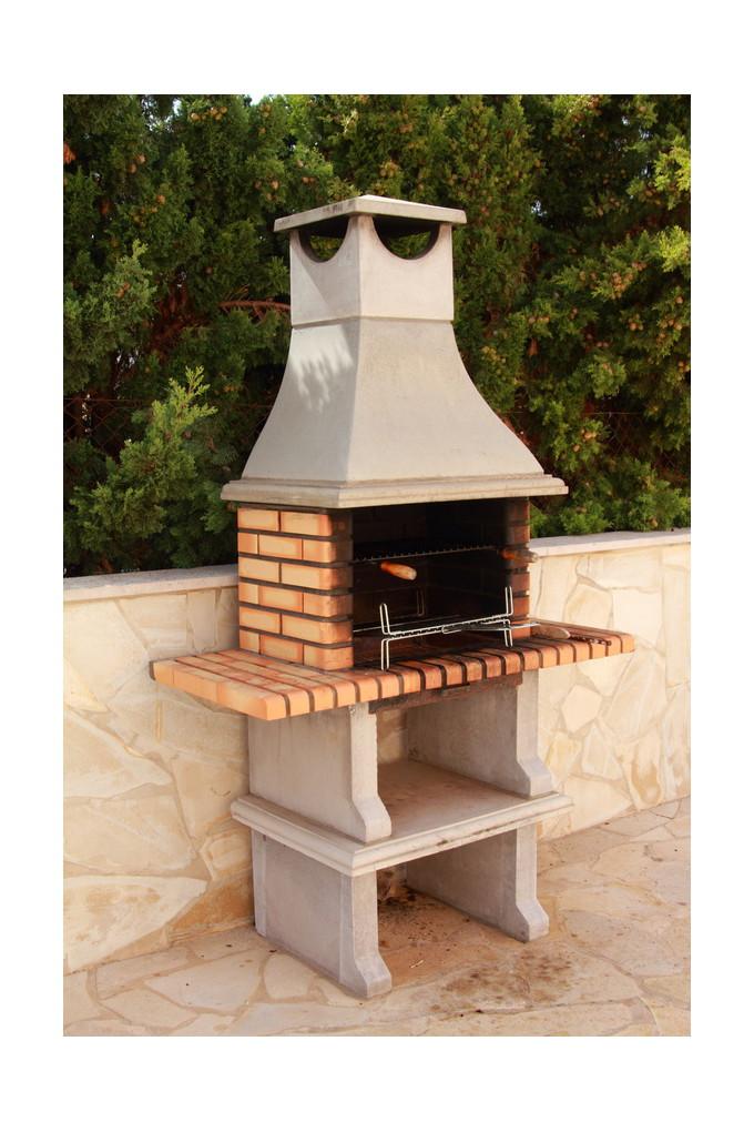 barbecue charbon fixe jardin