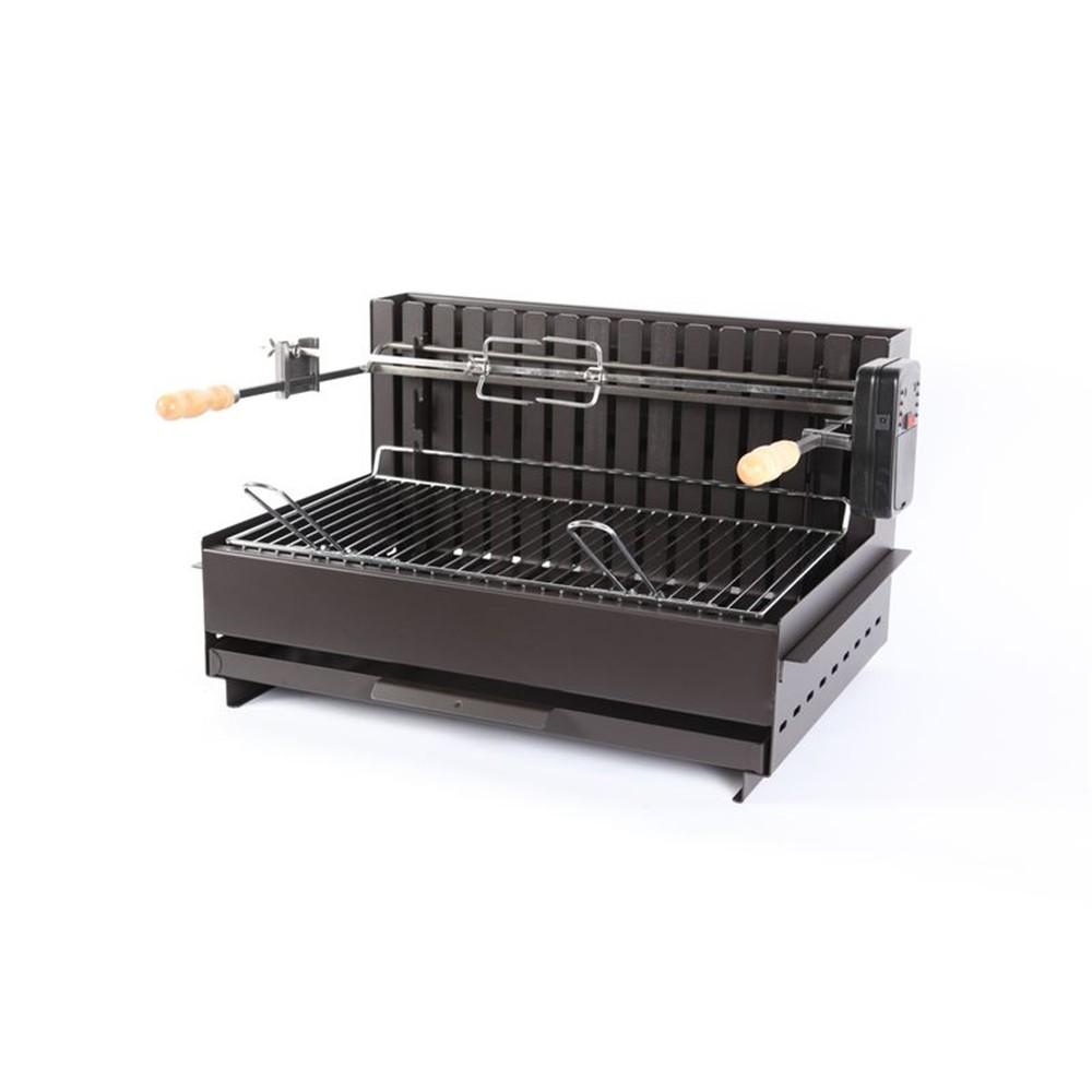 barbecue inox charbon de bois professionnel