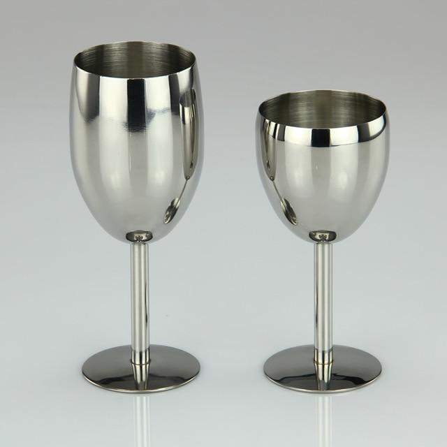 verre à vin en acier inoxydable