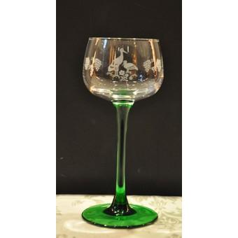 verre a vin blanc alsace pied vert