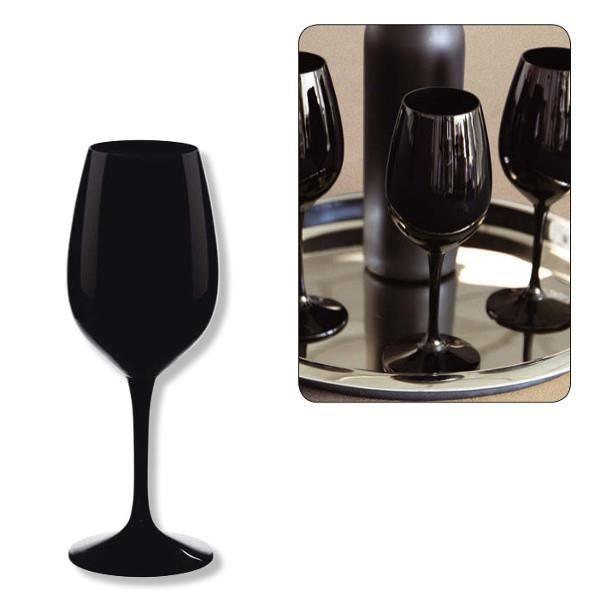 verre a vin couleur blanc opaque