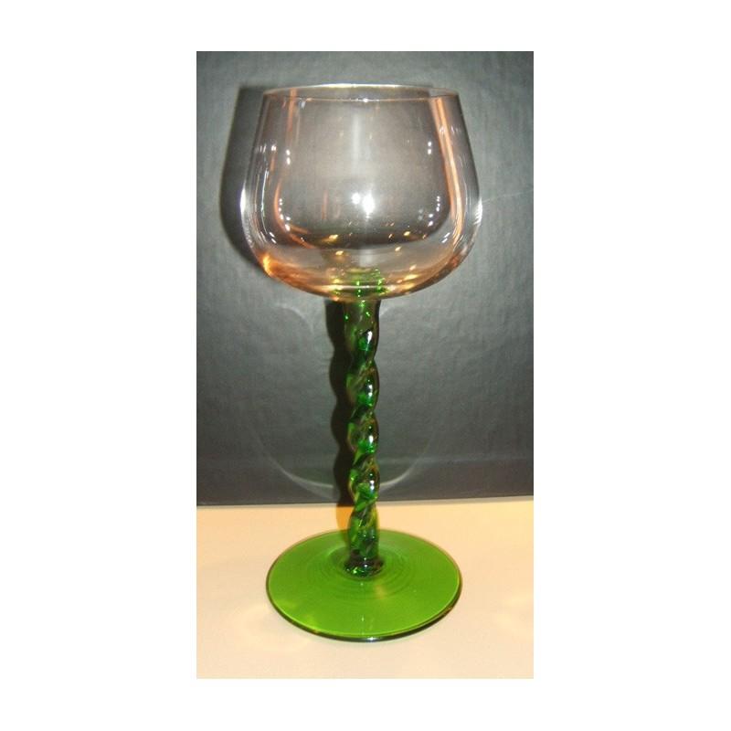 verre à vin d'alsace pied vert