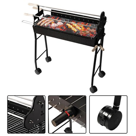 barbecue charbon trolley