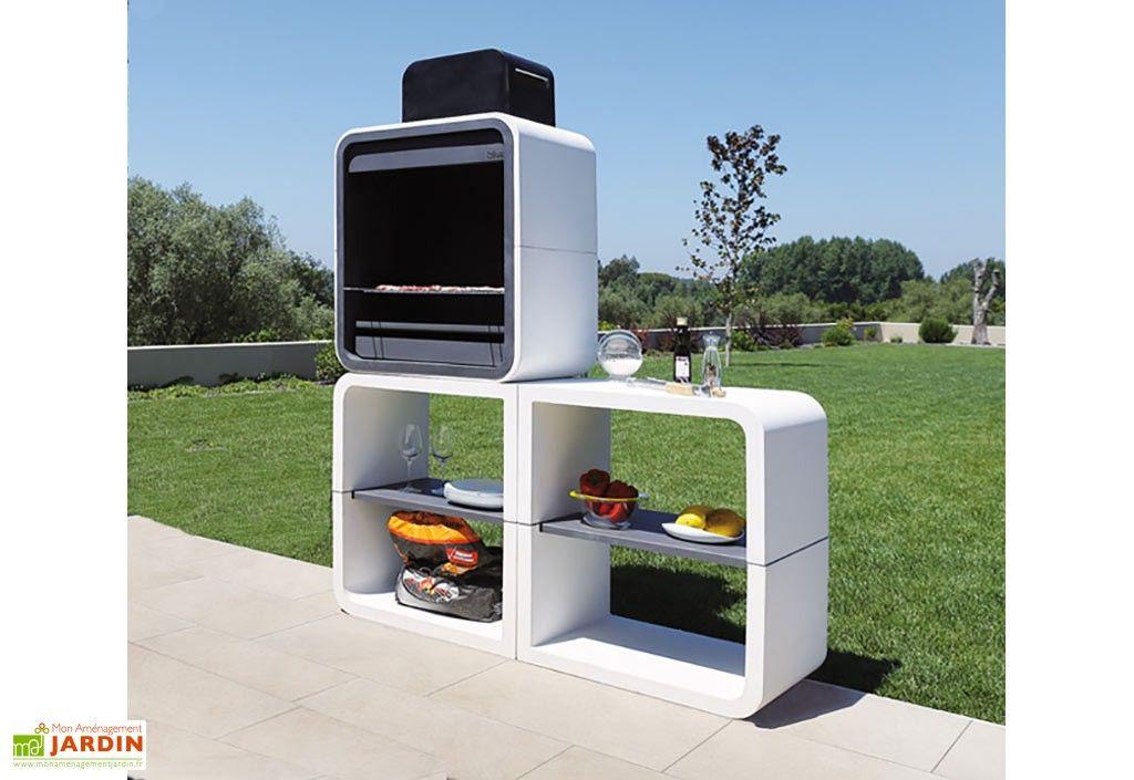 barbecue charbon en beton
