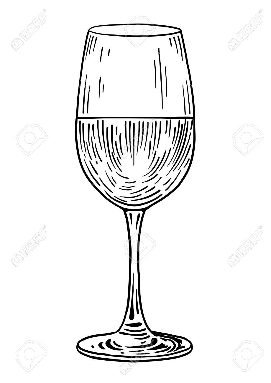 verre à vin dessin