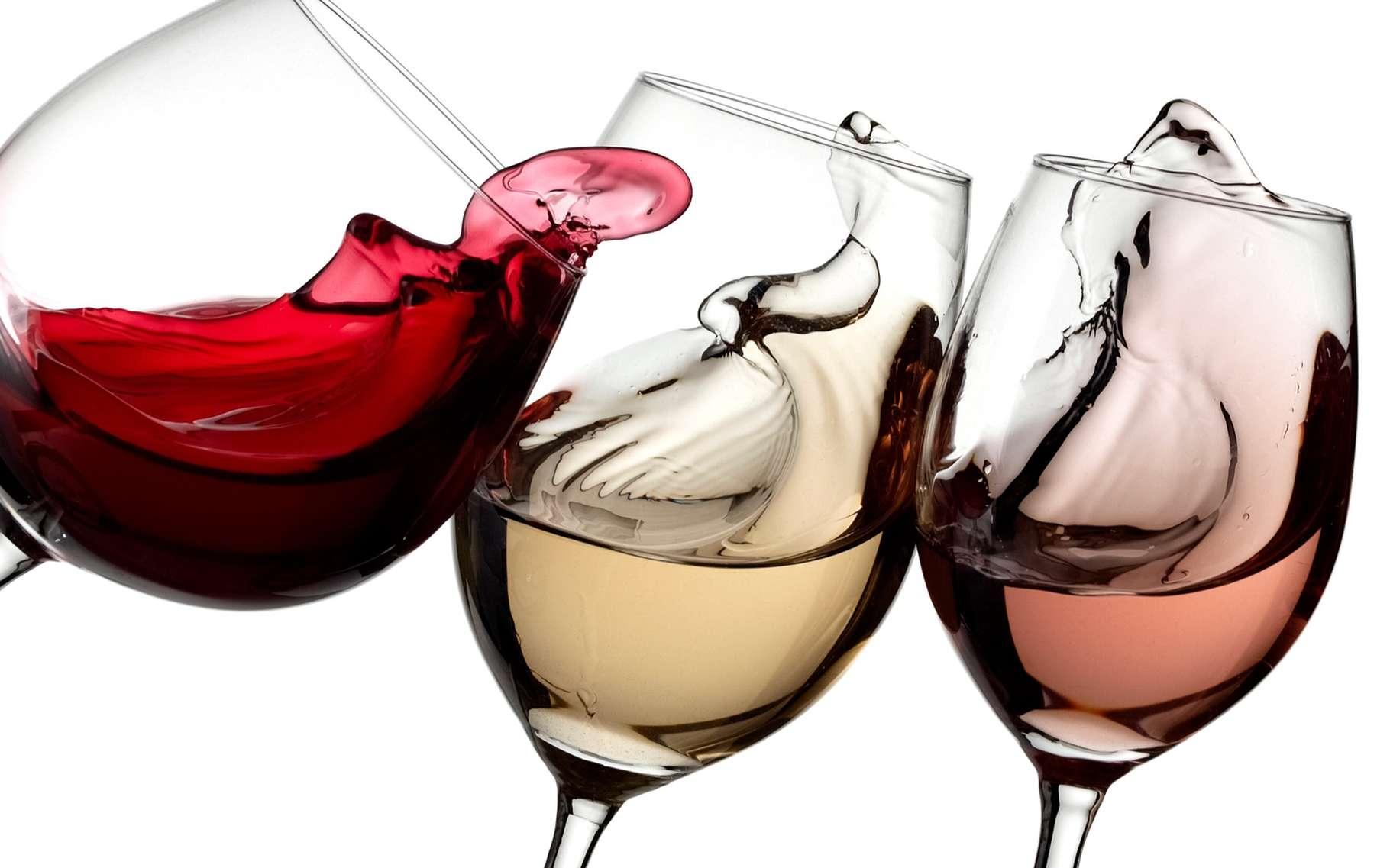 verre de vin rouge et rosé