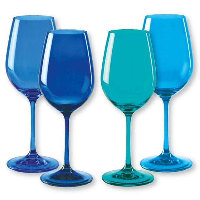 verre à vin bleu