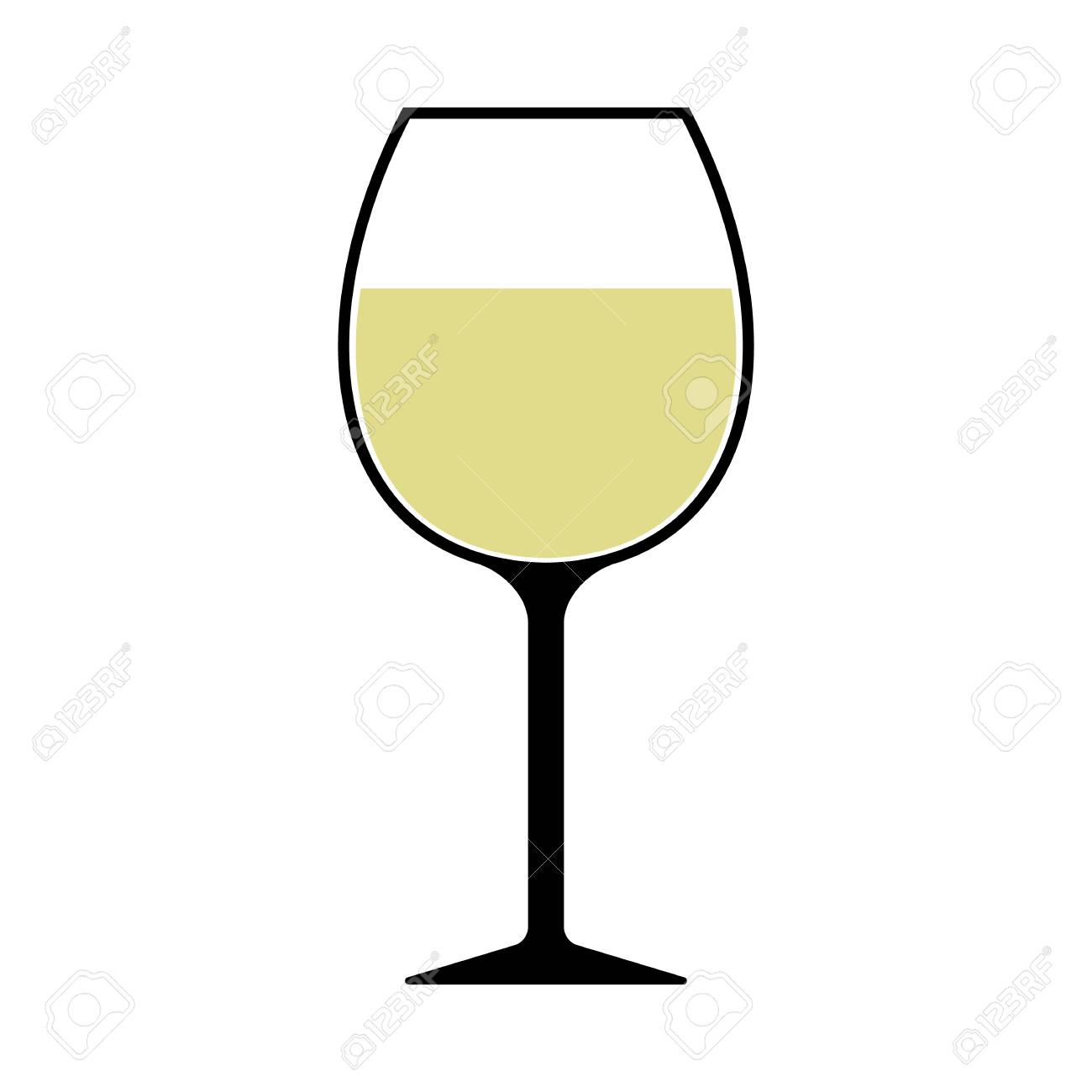 verre vin blanc image
