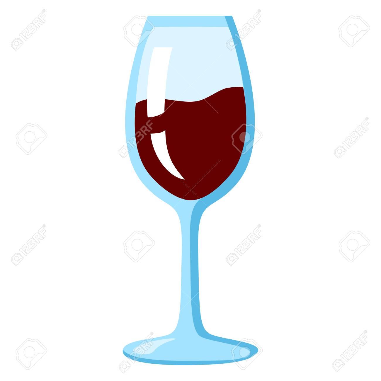 verre à vin de couleur rouge