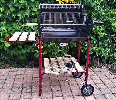 barbecue charbon tourne broche