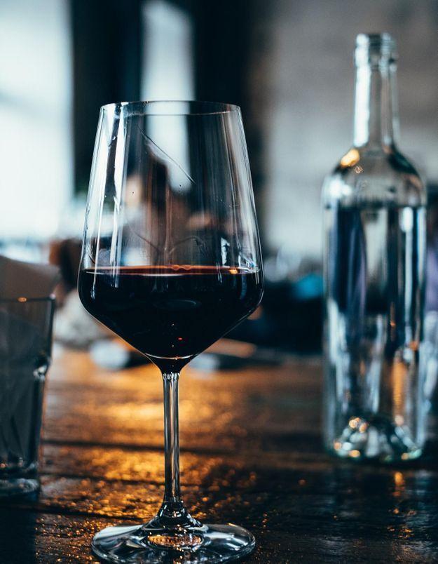 verre vin rouge calories