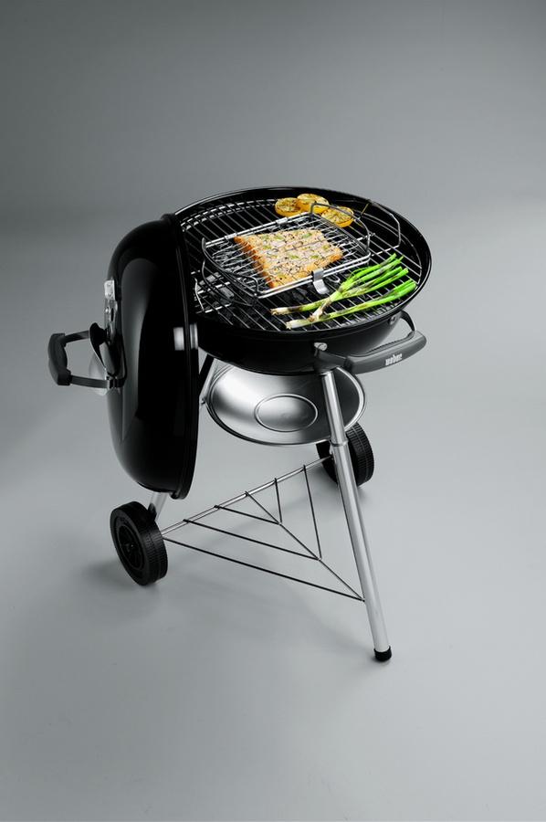 barbecue charbon weber compact kettle 57cm noir