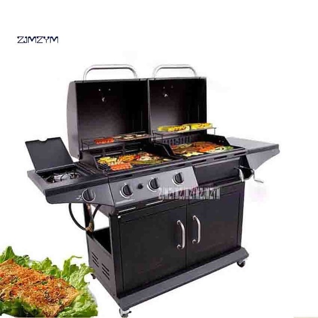 barbecue charbon gaz