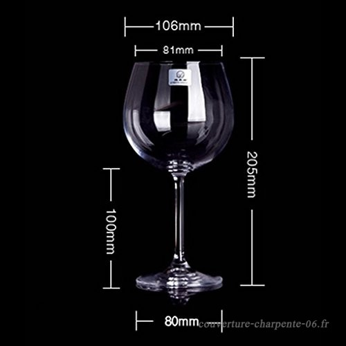 verre a vin rouge taille