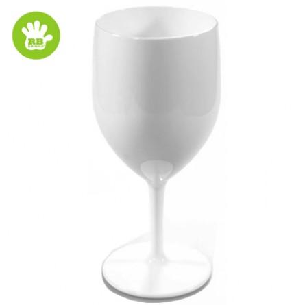 verre a vin blanc en plastique