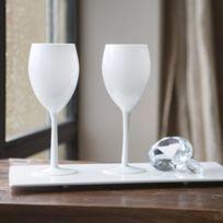 verre à vin blanc opaque