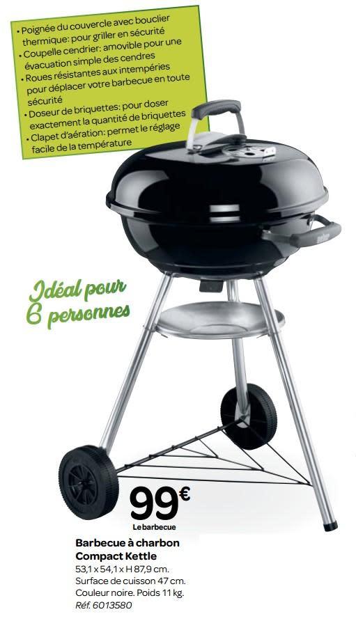 barbecue quantité charbon