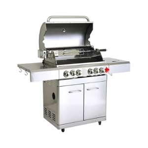 barbecue charbon silver style tournebroche xxl