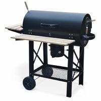 barbecue charbon fonte rond