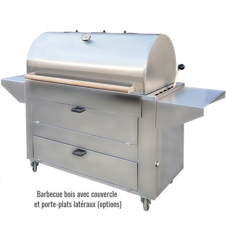 barbecue charbon inox avec couvercle