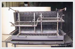 barbecue charbon vertical et horizontal