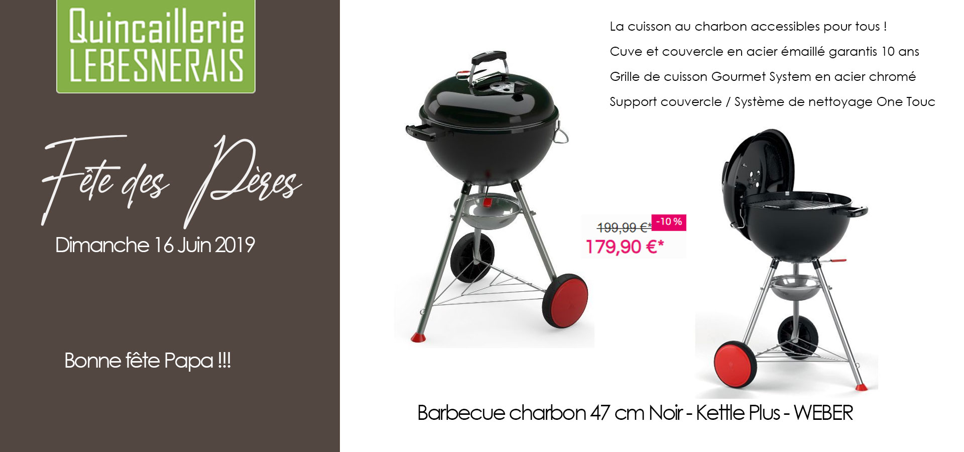 barbecue à charbon kettle plus 47 cm