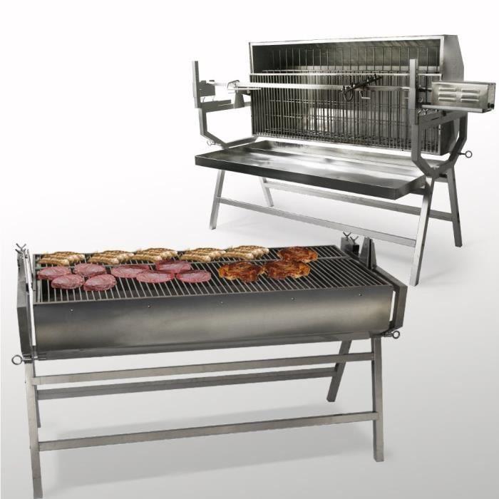 barbecue charbon inox professionnel