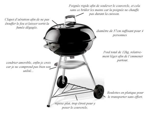 barbecue weber quantité charbon