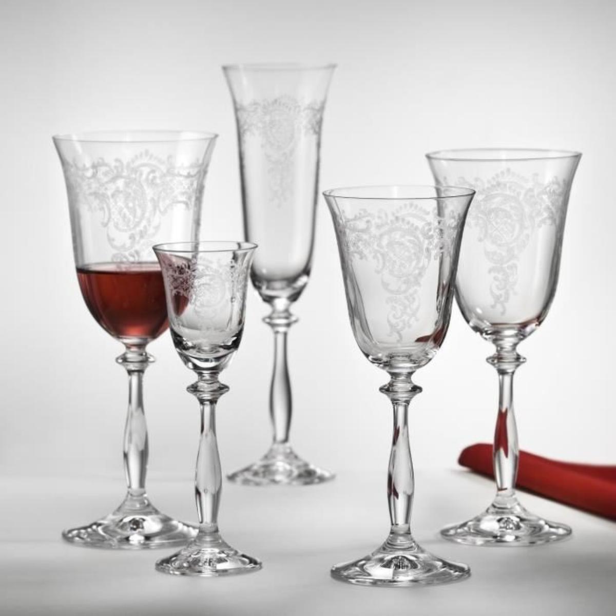 verre à vin rouge gravé