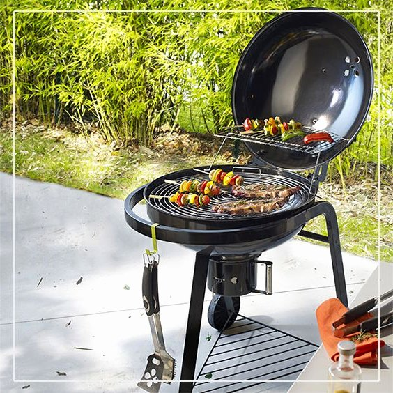 barbecue charbon fonte leroy merlin