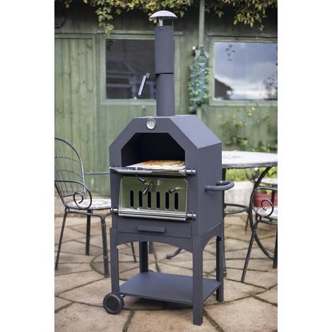 barbecue charbon et four a pizza