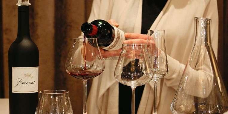 verre à vin rouge château baccarat