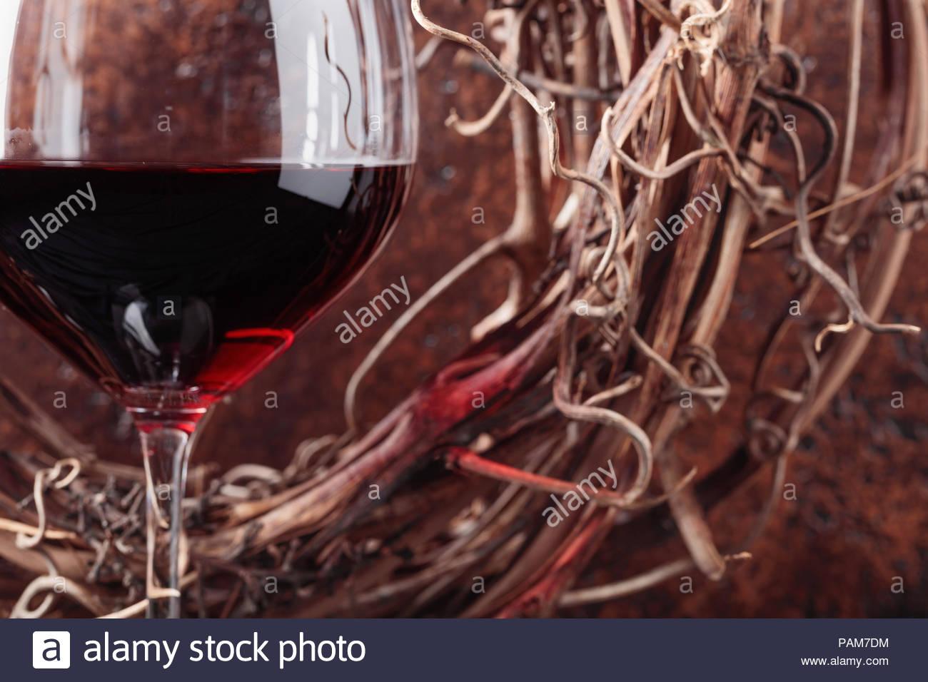verre de vin rouge sec
