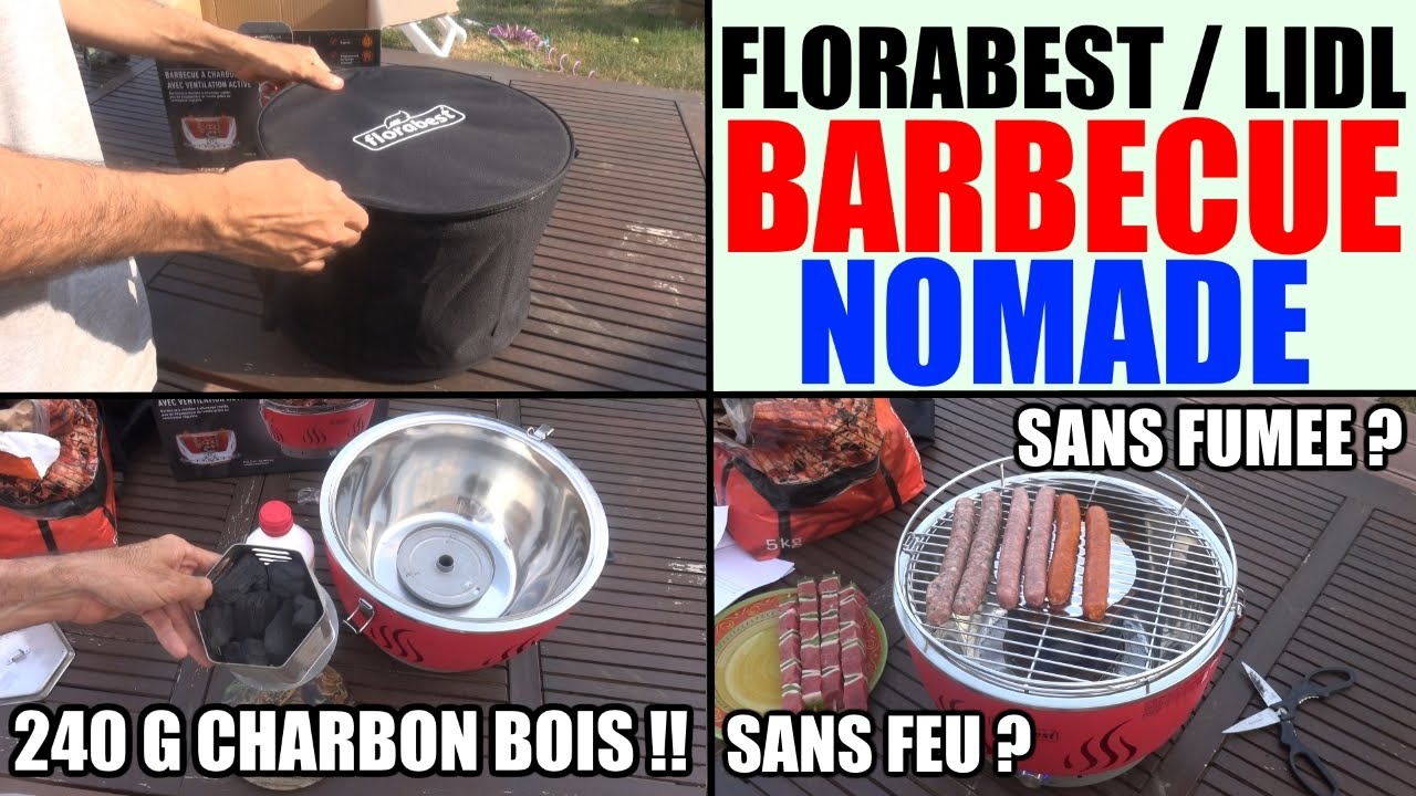 barbecue charbon ventilation active