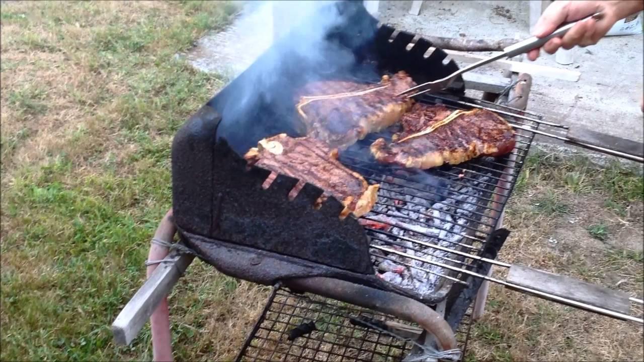 barbecue charbon ou sarment