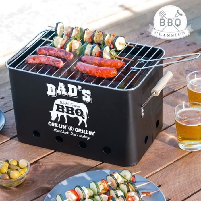 barbecue charbon sur table