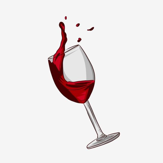 verre vin rouge png