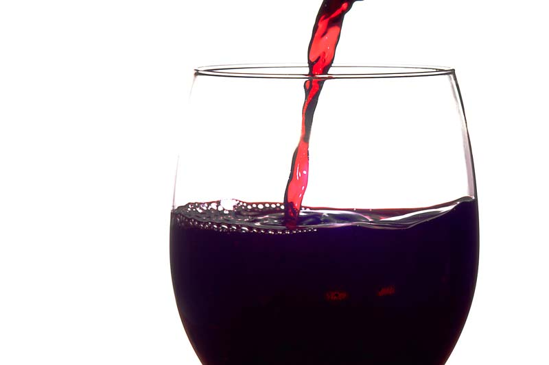 verre vin rouge glucides