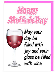 verre à vin fête des mères