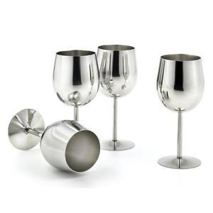 verre à vin en métal