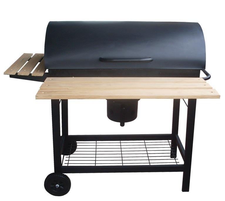 barbecue charbon tonneau + fumoir